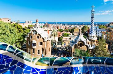 Park Guell in Barcelona, Spain (built 1900-1914)