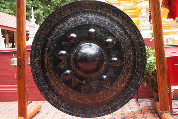 Thai traditional gong in Buddhist temple