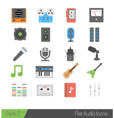 Colorful Flat Modern Multimedia Audio Icons