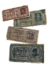 Old money of the German occupation territory in World War II