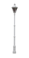 White street lamppost