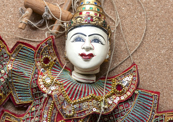 Colorful Burmese puppet