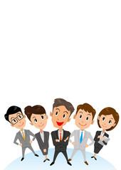 ビジネス グループ 見上げる