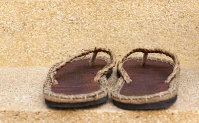 Handmade sandles closeup