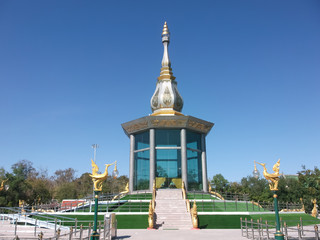 Pagoda is made of glass