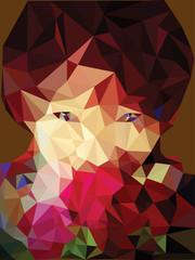 portrait woman polygon