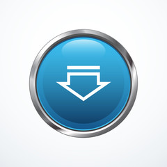 Blue Download Button