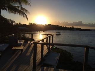Relaxation au coucher du soleil