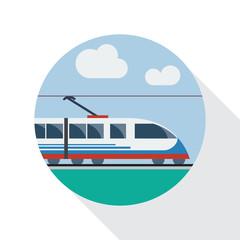 Vector sign railway, flat design