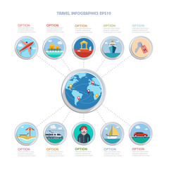 Vector travel infographics
