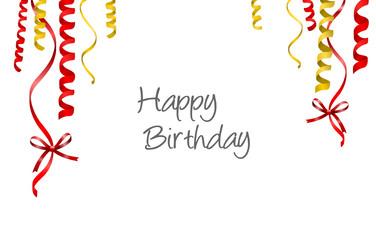 Luftschlangen Geburtstag