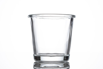 The Empty glass bottle.