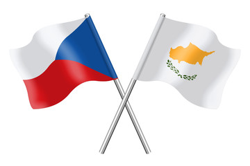 Flags: Czech Republic and Cyprus
