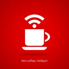 Wi-fi cafe poster design