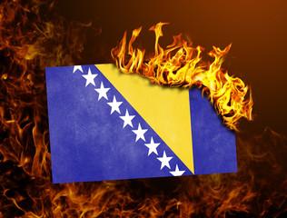 Flag burning - Bosnia and Herzegovina