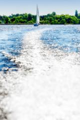 Sailing yacht background.