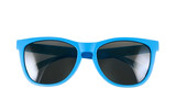 Blue sun glasses isolated