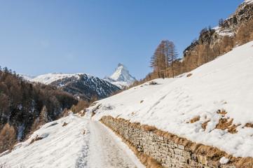 Zermatt, Walliser Dorf, Furi, Alpen, Winterferien, Schweiz