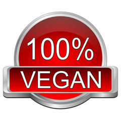100% vegan Button