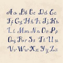 cute Handwritten watercolor letters