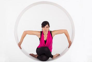 beautiful  girl engaged in yoga