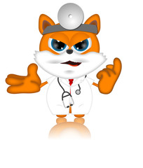 Marvin Cat Pet Veterinarien Cartoon Animal angry