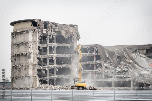 Fotobehang Industrial geb. demolition of old industrial building