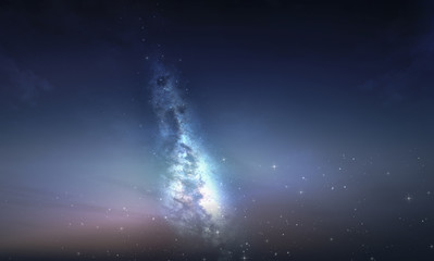 milky way galaxy with stars and night sky