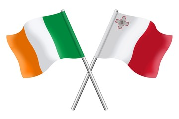 Flags: Ireland and Malta
