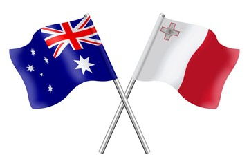 Flags: Australia and Malta
