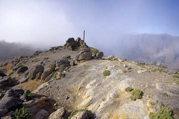 Caldera de Taburiente sea of clouds in La Palma Canary Islands
