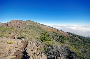 Caldera de Taburiente sea of clouds in La Palma Canary Islands