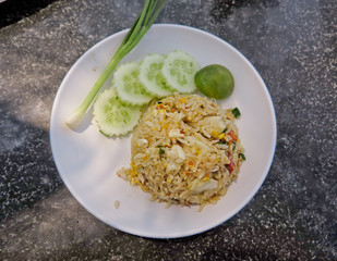 Crab Fried Rice - Fried rice thai style Asia Thailand