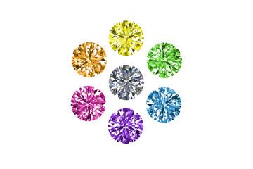 diamonds set with white background