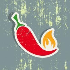 Chilli pepper label
