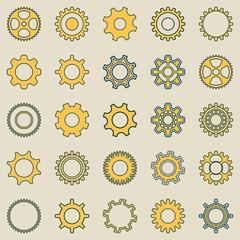 Gear wheel retro collection