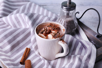 Cup of cocoa with marshmallows