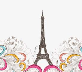 Cute Paris doodle
