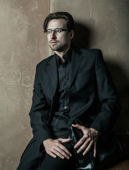 Young businessman.Fashion male.