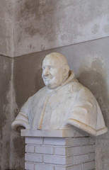 Stone Bust of Monk