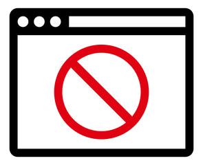 Blocked website icon
