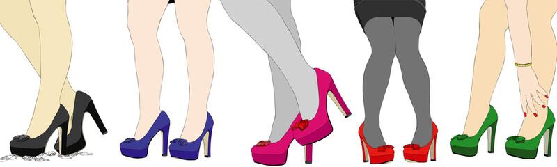 The nice legs of women