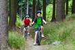 Healthy lifestyle - family biking