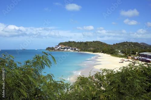 Постер, плакат: Карибы Пляжи острова Антигуа , холст на подрамнике
