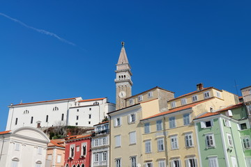 Picturesque old town Piran - Slovenian adriatic coast, Tartini