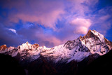 Mount Machapuchare (Fishtail) at sunset, Nepal poster