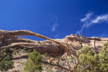 Landscape Arch, blue sky, Utah