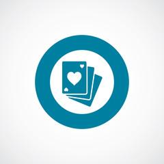 poker icon bold blue circle border