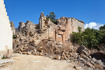 Earthquake ruins of Poggioreale, Sicily