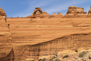 geology at Delicate Arch, Utah